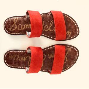NWT Sam Edelman Gala Red slide sandal size 6